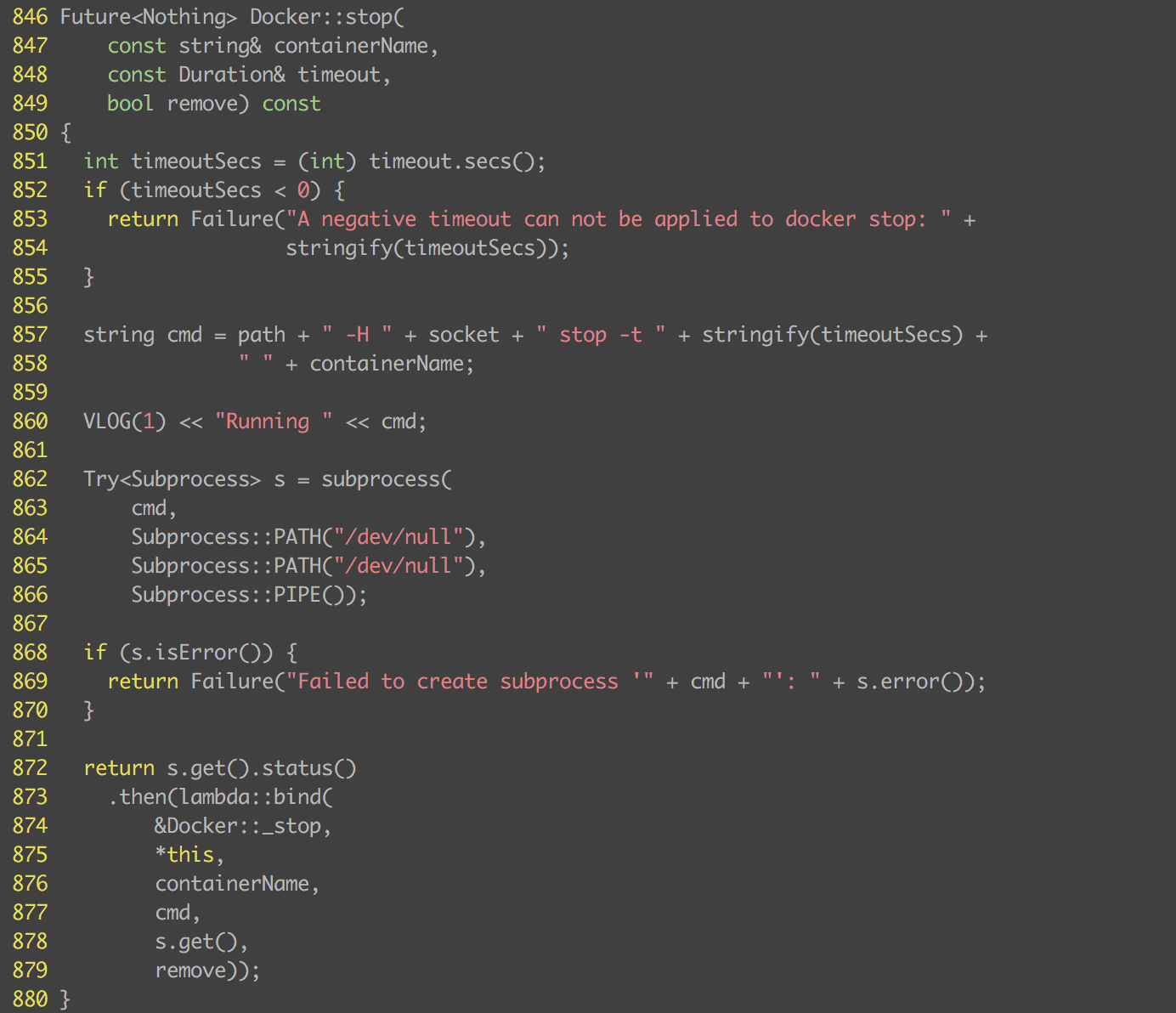docker-stop-code